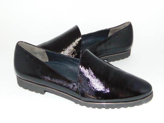 Paul Green Loafer Black Textured Patent Flats Image 4