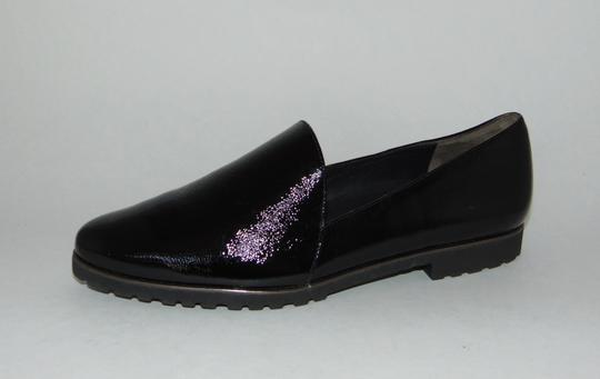 Paul Green Loafer Black Textured Patent Flats Image 5