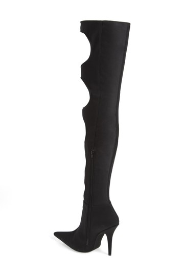 Jeffrey Campbell Sexy Black Stretch Cut Out Boots Image 1