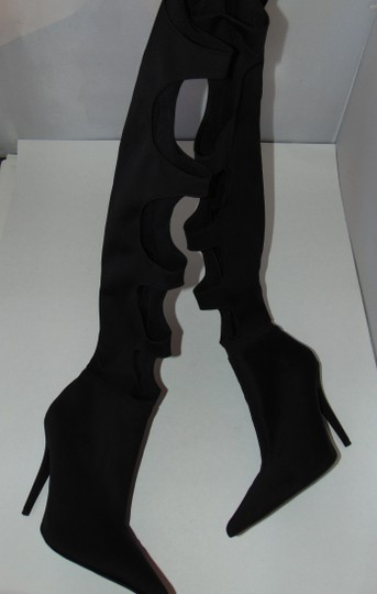 Jeffrey Campbell Sexy Black Stretch Cut Out Boots Image 5