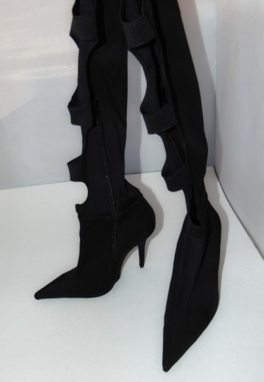 Jeffrey Campbell Sexy Black Stretch Cut Out Boots Image 6