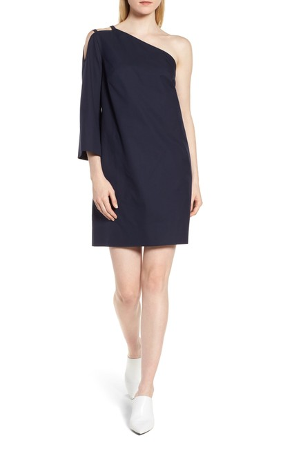 Preload https://img-static.tradesy.com/item/25654821/lewit-navy-one-shoulder-cotton-tunic-short-casual-dress-size-6-s-0-0-650-650.jpg