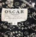Oscar de la Renta Button Down Shirt Black & White Image 1