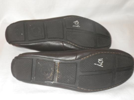 Brn Loafers Leather Men's. Brown Flats Image 5