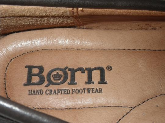 Brn Loafers Leather Men's. Brown Flats Image 4