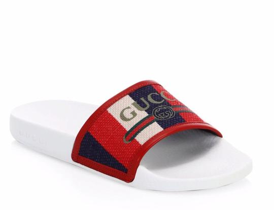 Gucci Pool Slides Pool Slides Nautical Striped multicolor Sandals Image 0