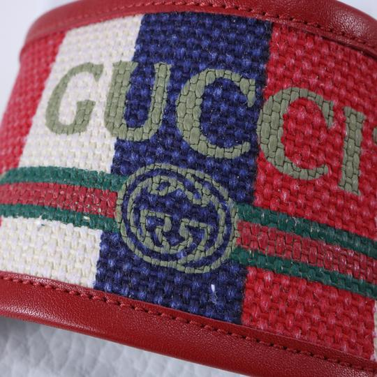 Gucci Pool Slides Pool Slides Nautical Striped multicolor Sandals Image 11