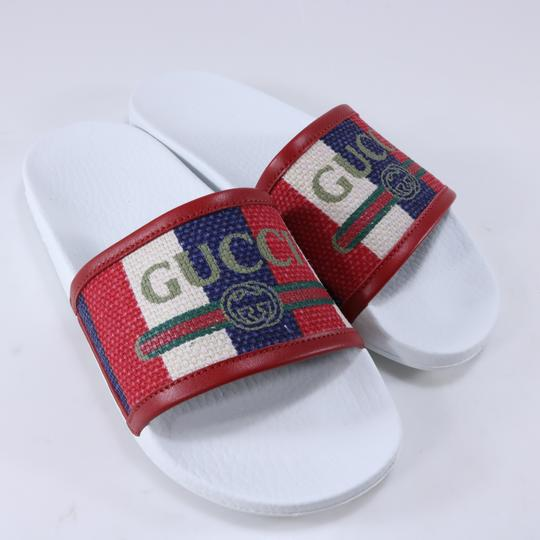 Gucci Pool Slides Pool Slides Nautical Striped multicolor Sandals Image 2
