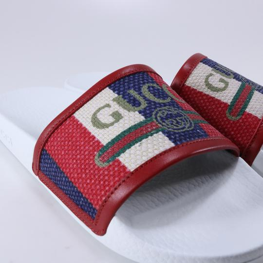 Gucci Pool Slides Pool Slides Nautical Striped multicolor Sandals Image 9