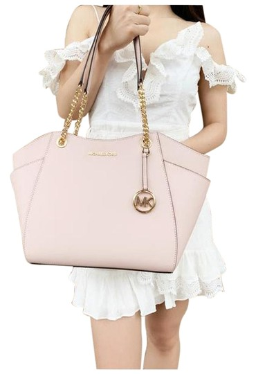 Michael Kors Womens Chain Shoulder Tote in Pink Image 0