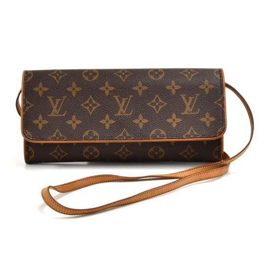 Preload https://img-static.tradesy.com/item/25654891/louis-vuitton-pochette-twin-shoulder-bag-pm-brown-monogram-canvas-and-calfskin-clutch-0-0-540-540.jpg
