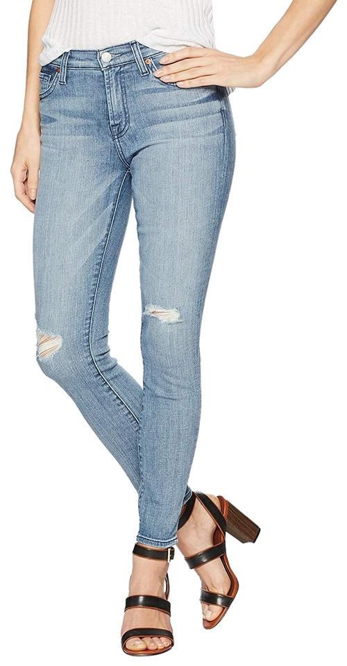 on wholesale official photos fashion styles 7 For All Mankind Addison Light Sky Distressed Gwenevere Ankle Skinny Jeans  Size 29 (6, M) 41% off retail
