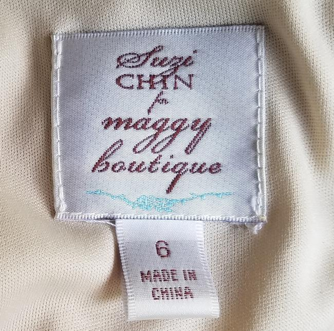 Suzi Chin for Maggy Boutique short dress Green, Purple, Cream, Slinky Ruched Striped on Tradesy Image 3
