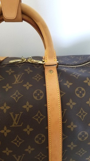 Louis Vuitton Carry On Bandouliere Luggage Luggage Keepall Duffle Brown Travel Bag Image 10