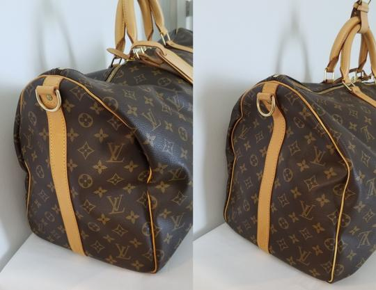 Louis Vuitton Carry On Bandouliere Luggage Luggage Keepall Duffle Brown Travel Bag Image 2