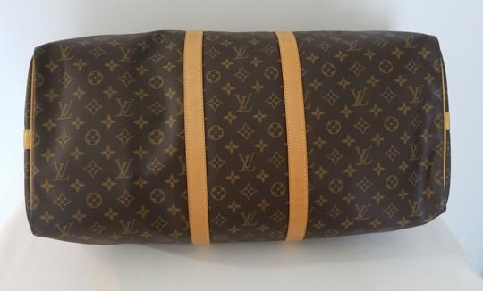 Louis Vuitton Carry On Bandouliere Luggage Luggage Keepall Duffle Brown Travel Bag Image 3