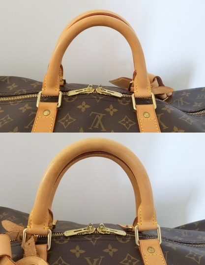 Louis Vuitton Carry On Bandouliere Luggage Luggage Keepall Duffle Brown Travel Bag Image 5