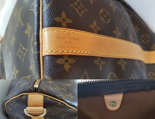 Louis Vuitton Carry On Bandouliere Luggage Luggage Keepall Duffle Brown Travel Bag Image 6