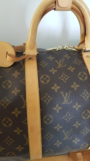 Louis Vuitton Carry On Bandouliere Luggage Luggage Keepall Duffle Brown Travel Bag Image 9