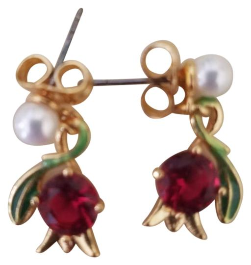 Preload https://img-static.tradesy.com/item/25655077/les-nereides-gold-red-pearl-green-tone-flower-ruby-earrings-0-1-540-540.jpg