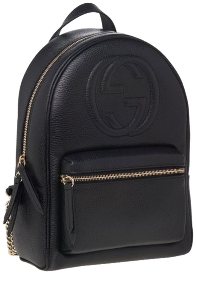 Gucci Soho Women\u0027s Black Leather Backpack 30% off retail
