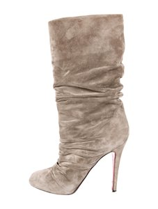 Christian Louboutin taupe/gray Boots