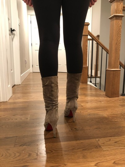 Christian Louboutin taupe/gray Boots Image 5
