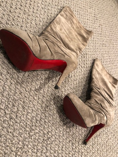 Christian Louboutin taupe/gray Boots Image 7