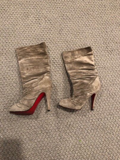 Christian Louboutin taupe/gray Boots Image 8