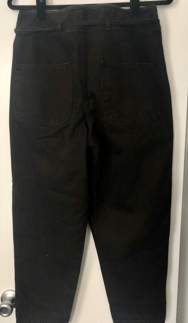 Ulla Johnson Cinch Waist Denim Weekend Trouser/Wide Leg Jeans-Medium Wash Image 3