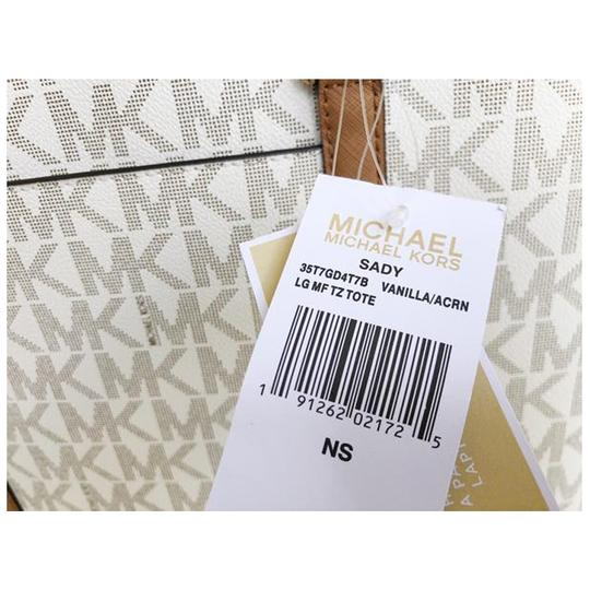 Michael Kors Womens Laptop Tote in Vanilla Image 3