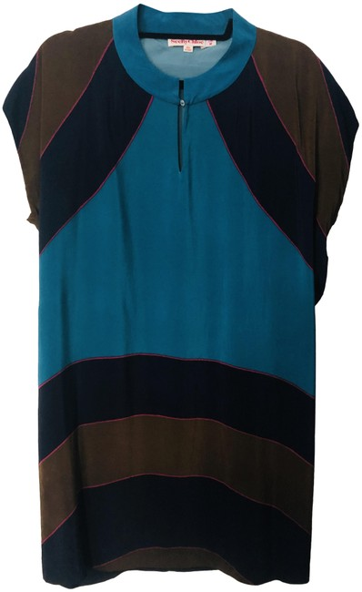 Preload https://img-static.tradesy.com/item/25655213/see-by-chloe-teal-silk-short-night-out-dress-size-6-s-0-1-650-650.jpg