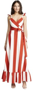 Red and white Maxi Dress by Alice + Olivia
