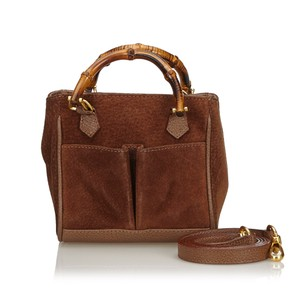 Gucci 9fgust007 Vintage Leather Satchel in Brown