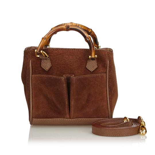 Preload https://img-static.tradesy.com/item/25655227/gucci-dark-suede-bamboo-italy-small-brown-leather-satchel-0-0-540-540.jpg