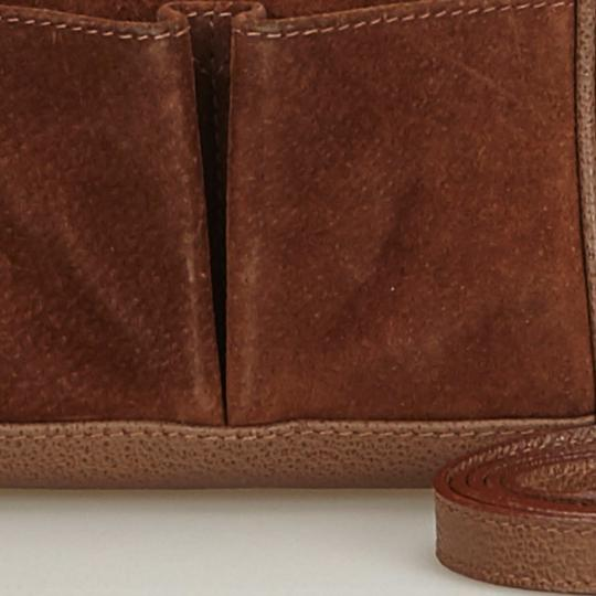 Gucci 9fgust007 Vintage Leather Satchel in Brown Image 10