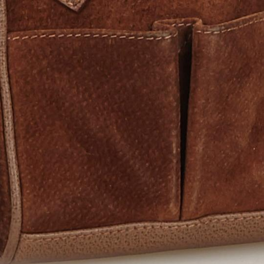Gucci 9fgust007 Vintage Leather Satchel in Brown Image 11