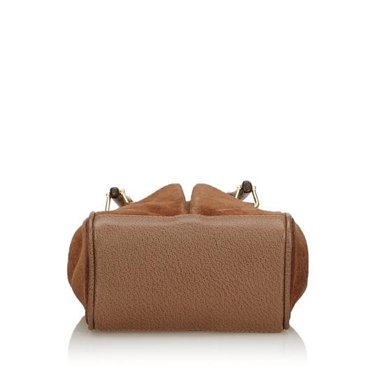 Gucci 9fgust007 Vintage Leather Satchel in Brown Image 3