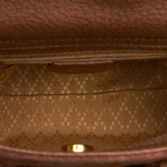 Gucci 9fgust007 Vintage Leather Satchel in Brown Image 4