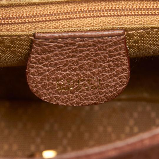 Gucci 9fgust007 Vintage Leather Satchel in Brown Image 5