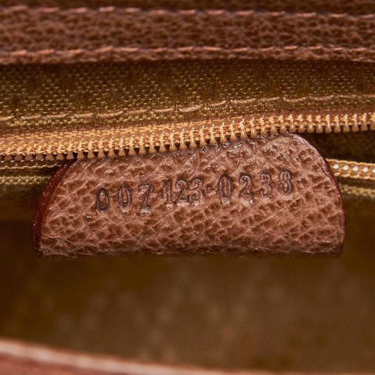 Gucci 9fgust007 Vintage Leather Satchel in Brown Image 6