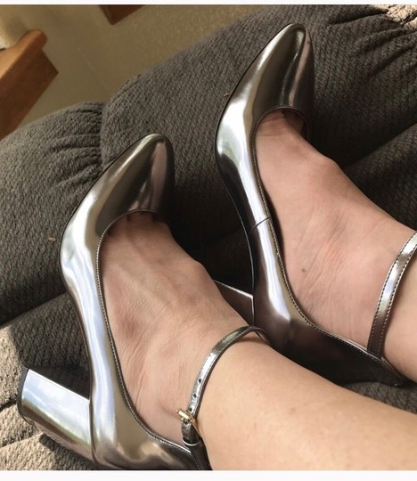 Cole Haan pewter Metallic Pumps Image 2