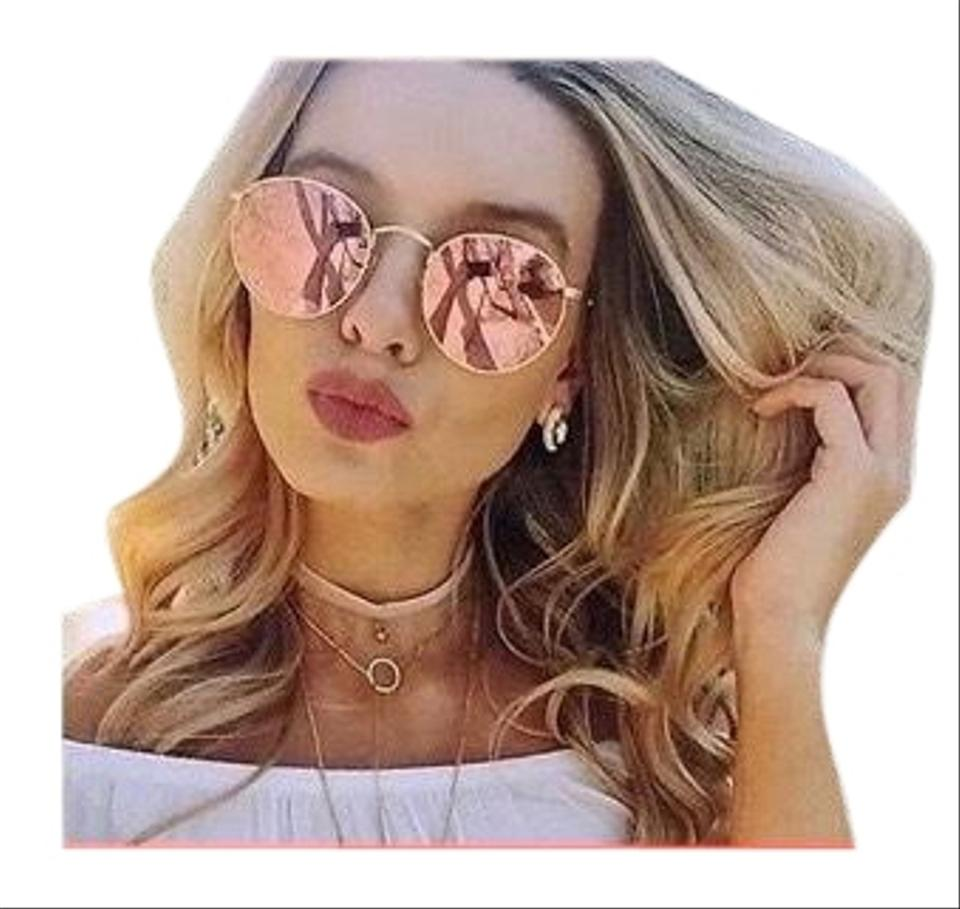 112z2 Frame 54Off Gold Retail Sunglasses Ban Copper Round Metal Lens Pink 3447 Ray DHIYW92beE