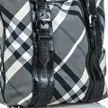 Burberry 9dbuto022 Vintage Canvas Leather Tote in Black Image 7