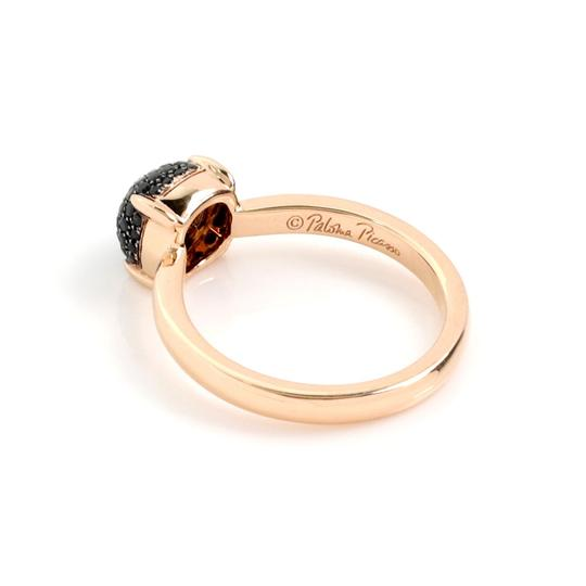 Tiffany & Co. Picasso Sugar Stack Pave Black Spinels 18k Rose Gold Ring Image 2
