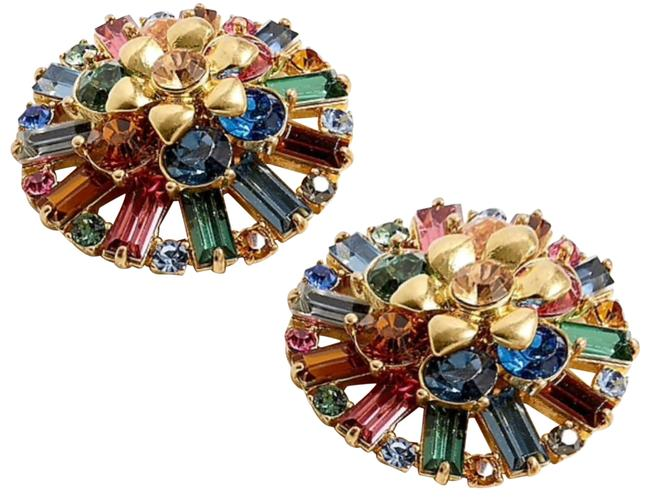 Item - Multicolor Flower Crescent Studs Earrings