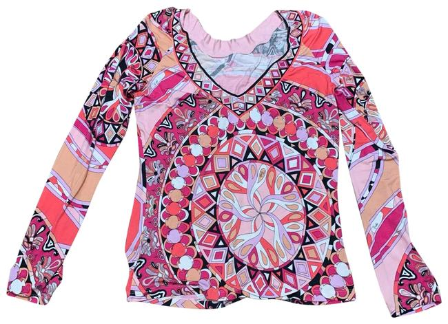 Preload https://img-static.tradesy.com/item/25655341/emilio-pucci-swirls-vibrant-colorations-v-neck-classic-pinks-black-bold-designs-sweater-0-1-650-650.jpg