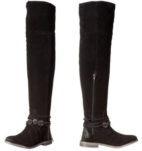 Musse & Cloud Suede Over-the-knee Burnished Flat Musse-cloud Black Boots