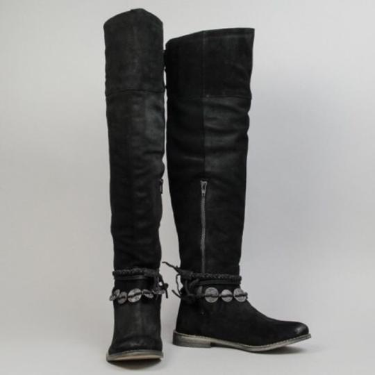 Musse & Cloud Suede Over-the-knee Burnished Flat Musse-cloud Black Boots Image 1