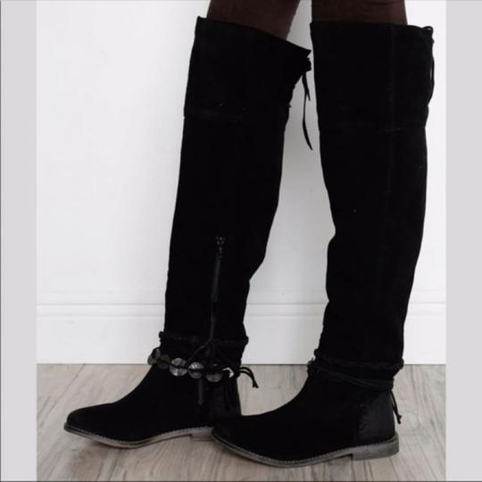 Musse & Cloud Suede Over-the-knee Burnished Flat Musse-cloud Black Boots Image 2